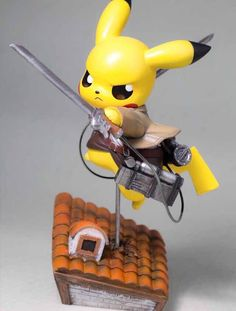 Poke Toy Pikachu Cos Attack on Titan 19cm Toys #1591 Action Figure Brinquedo Toy Kids Christmas Gift Free Shipping | Gamers Goodies