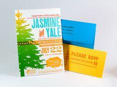 Jasmine & Yale Wedding Invitation // three steps ahead