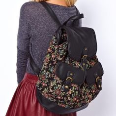 stacy bag for spring summer high quality women printing backpack female beautiful floral prints travel backpack girls travel bag $17.90