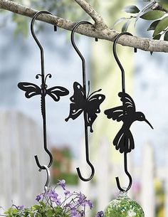 Die Cut Plant Hangers Garden Decor - eclectic - outdoor decor - Collections Etc.