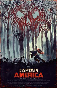 Captain America - movie poster - Visit to grab an amazing super hero shirt now on sale!