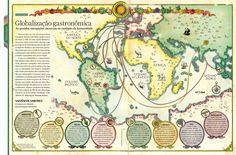 Mapa mostrando a rota das especiarias. Ilustração: Cassio Bittencourt