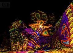 Múzeumok Éjszakája - Sziklakórház - Night Projection fényfestés  Második világháborús, 1956-os kórház, és titkos atombunker - a Budai Vár alatti barlangrendszerben.  Fotó: Lánszki Tamás  #MuzeumokEjszakaja #NightProjection #fenyfestes #raypainting #visuals