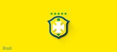 Designer Gives 2014 World Cup Team Logos The Minimalist Treatment - DesignTAXI.com