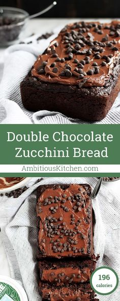 Allergy friendly healthy double chocolate zucchini bread that's gluten free, vegan and nut free! So moist and full of chocolate flavor that you'll have everyone thinking it's cake.
