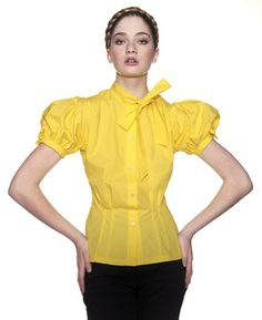 I think this puff sleeve blouse is super. The sleeves and body are cut in one piece. Burda