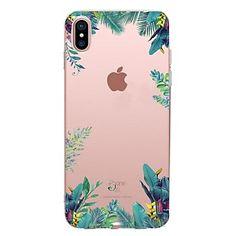 Capinha Para Apple iPhone X iPhone 8 iPhone 8 Plus Transparente Estampada Capa Traseira Árvore Macia TPU para iPhone X iPhone 8 Plus