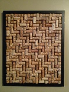 framed corks. love this pattern.