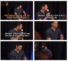 What would you do for a Klondike bar, Dean? - Supernatural Humor Funny