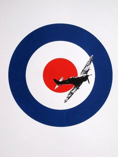 Supermarine Spitfire & Roundel - limited edition screenprint.