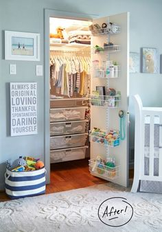 Baby Closet Ideas • Boy Nursery Ideas • Blue Nursery Ideas for Baby Boy
