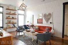 Living Room Makeover Reveal - Vintage Revivals