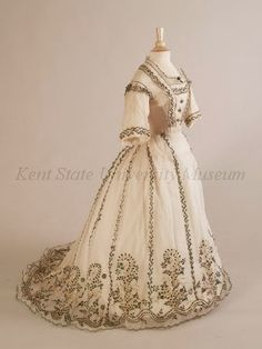 In the Swan's Shadow: Beetle-wing Embroidered Dress, made for British Markets, 1863-67