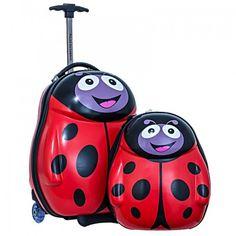 Regalos Infantiles - Maletas Viaje niños : Pack Maleta y Mochila Polka