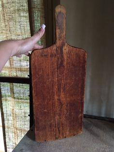 Large Early Antique Wooden Treen Dough Cutting Board Original Patina 19TH C AAFA