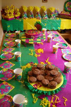 decoración fiesta infantil Barney