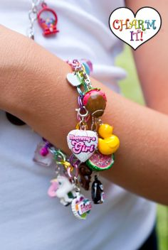 Charm It! A charm bracelet and necklace line for young girls. Super cute available at www.facebook.com/fromtheheartcullman