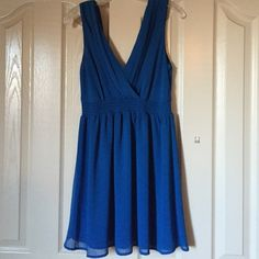 Beautiful Blue Flowy Dress Blue dress from Forever21. Perfect for a special occasion or date night. Forever 21 Dresses Mini