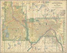 Image for Vintage Minneapolis St. Paul Map