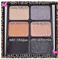Maybe I should see if wet n wild is as great as all of the dupe finders thinks it is. I've never been a huge fan of wet n wild eyeshadow.