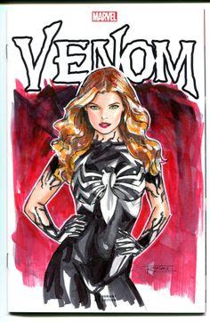 Mary Jane Venomized Comic Art