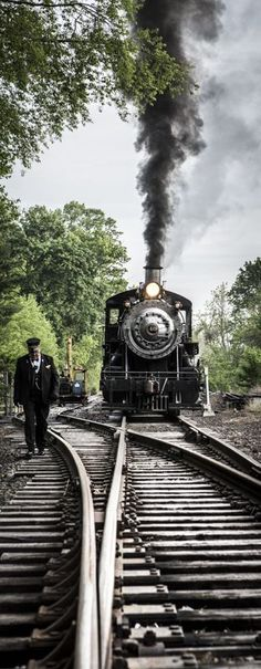 Wrong setting, right type of train (Trens e Locomotivas by Daniel Alho) By Train, Train Tracks, Train Rides, Train Art, Locomotive Diesel, Steam Locomotive, Old Trains, Train Pictures, Steam Engine