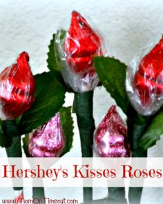 Hershey's Kiss Roses – A sweet Valentine's Day bouquet - Crafts for Teens Mothers Day Crafts, Valentine Day Crafts, Holiday Crafts, Holiday Fun, Valentine Ideas, Valentine Roses, Valentine Party, Valentine Activities, Christmas Parties