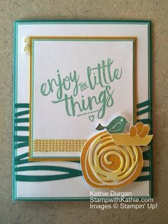 Image result for cards using new su swirly bird stamps and thinlits