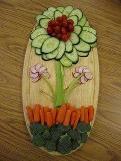 Spring/Easter Veggie Tray