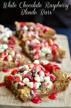 White Chocolate Raspberry Blonde Bars