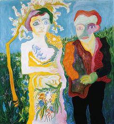 Paul Camenisch (Swiss, 1893–1970), Das Brautpaar (Oblomow und Olga), 1928. Oil on canvas, 124 x 114 cm