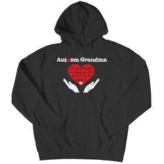 Autism Grandma - T-Shirt Ladies V-Neck Long Sleeve Hoodie Tank Top & Bella Flowy Racerback Tank