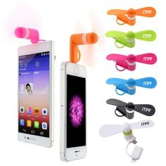 Cell Phone Fan - Compatible with Apple and Android Devices. Pricing starting at $3.25/each at 100 pieces.