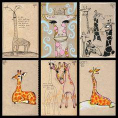 Giraffe drawings - Teesha Moore