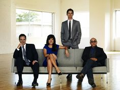 White Collar TV Show | Split Rail Couch with Arms | http://modernica.net/split-rail-couch-with-arms.html
