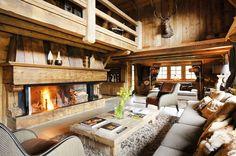 Luxus Hütte Französischen Alpen Terrasse Schnee Holz Möbel   Haus    Pinterest   Cabin