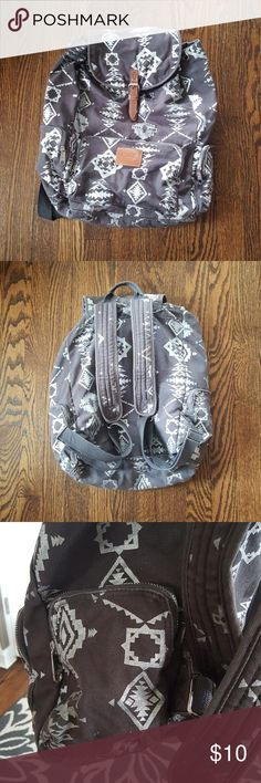 Vs PINK backpack Gray with shimmery silver Aztec print. In great condition. Vs PINK backpack. PINK Victoria's Secret Bags Backpacks