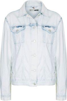 Topshop Moto white wash western jacket on shopstyle.com
