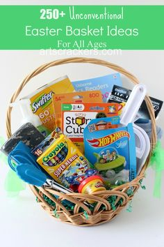 Over 250 Unconventional Easter Basket Ideas For All Ages. Click the picture to view the list.