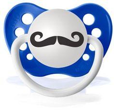 baby stache! ... Cool Pacifiers Handlebar Mustache