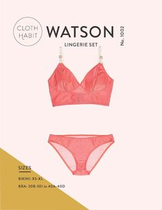 Watson Bra & Bikini Sewing Pattern  #diy #sewing #lingerie