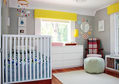 """Baby Boy's Modern, Bright and Colorful Nursery"" on Chic & Cheap Nursery blog"
