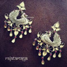3 Rajatamaya silver peacock eyering
