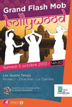 Flashmob bollywood aux 4 Temps La Défense avec la ville de Courbevoie | Defacto - Quartier d'affaires de la Défense