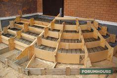 Крыльцо с закругленными ступенями - доступная технология - Дом и стройка - Статьи - FORUMHOUSE