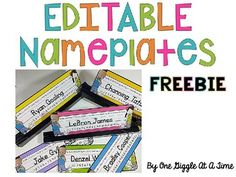 These EDITABLE nameplates are perfect for your little learners to start the year off right! You can either type their names in or write them in to show your students the proper way their names should be written. Come in six different colors. Include alphabet with vowels highlighted, a number line to 20, and hands showing left and right.Nameplates with both regular print alphabet and dnealian print alphabet are included.