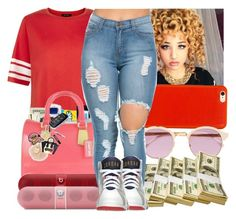 """I get MONEY everydayy"" by shortnchick-101 ❤ liked on Polyvore featuring New Look, Beats by Dr. Dre, Knomo, Sheriff&Cherry and Retrò"