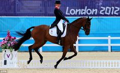 Great Britain's Zara Phillips competes in the Dressage stage of the Eventing on the second day of the Olympics