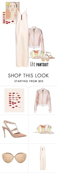 """""""the jumpsuit pantsuit"""" by shoelover220 ❤ liked on Polyvore featuring Andrea, STELLA McCARTNEY, Valentino, Linda Farrow, E L L E R Y, Andy Warhol and thepantsuit"""