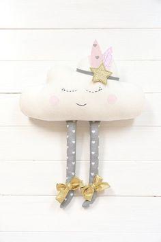 Colchón de almohada nube nube chica de la decoración por Jobuko